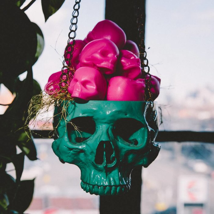 Hot Pink Skull Lipgloss- Tropical Fruit