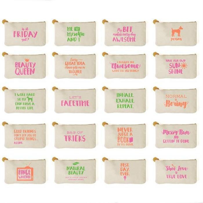 Large Say Something Pouch