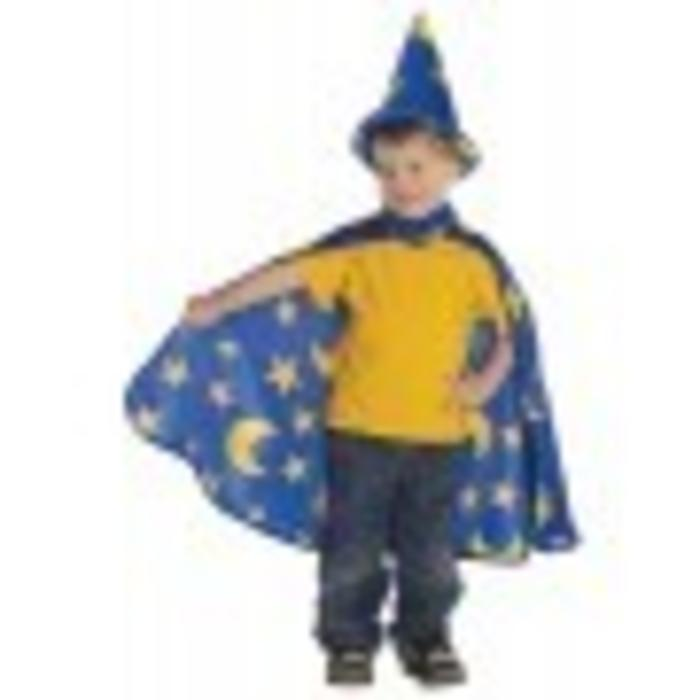 Wizard Cape/Hat, Blue, Sm