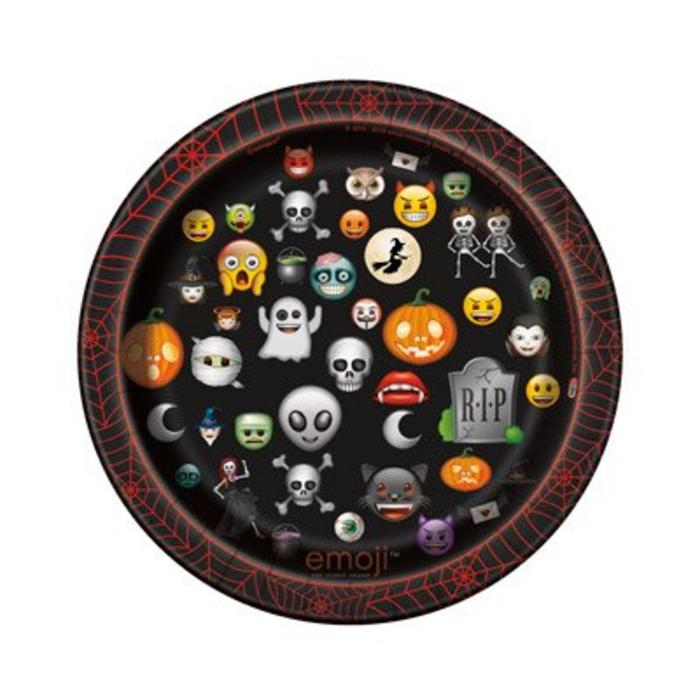Halloween Emoji Dessert Plate
