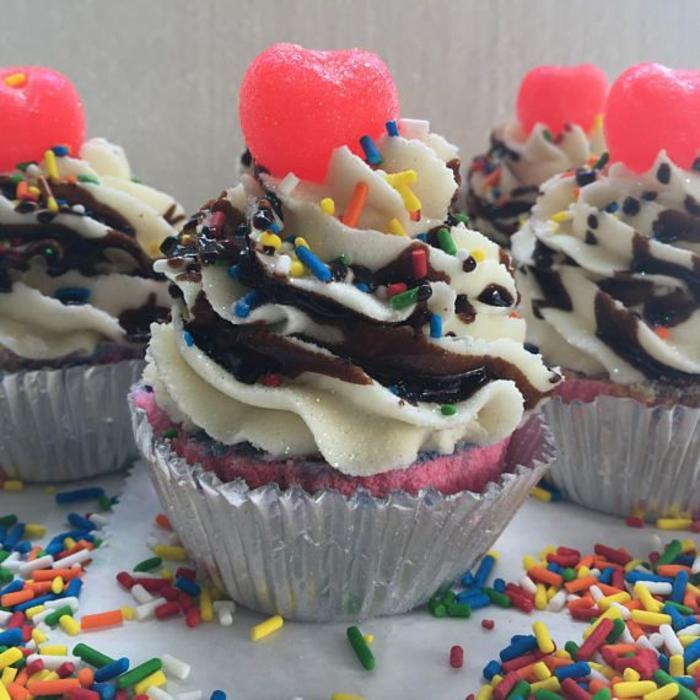 Ice Cream Sundae Cupcake Bath Bomb
