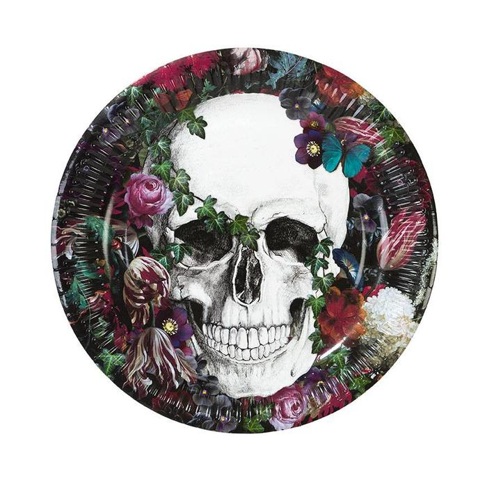 Baroque Skeleton Paper Plate 9""