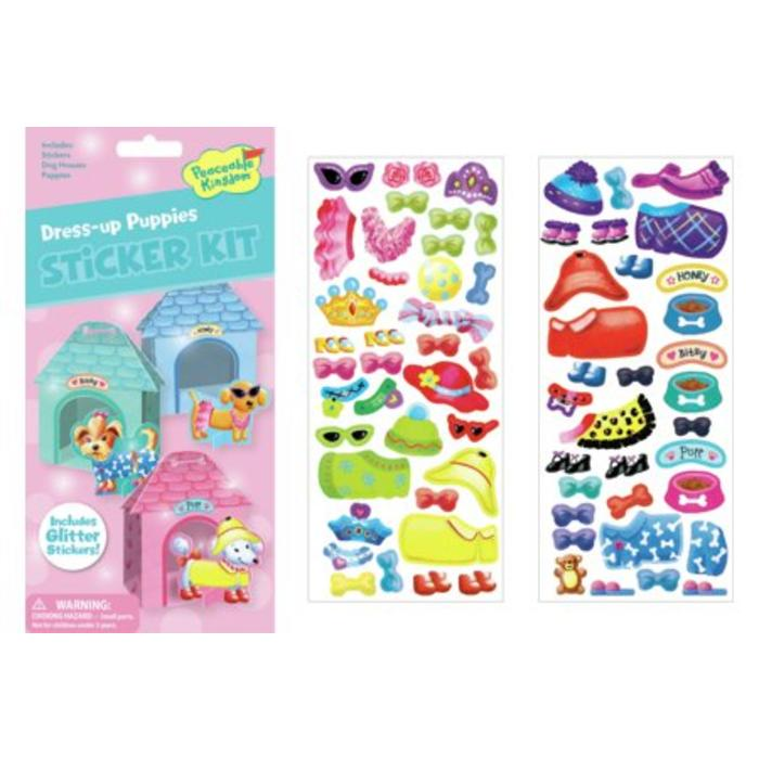 Dress-Up Puppies Quick Sticker Kit