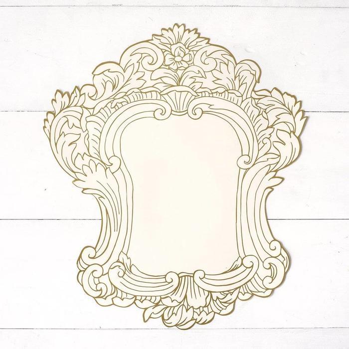 Die Cut Gilded Gold frame