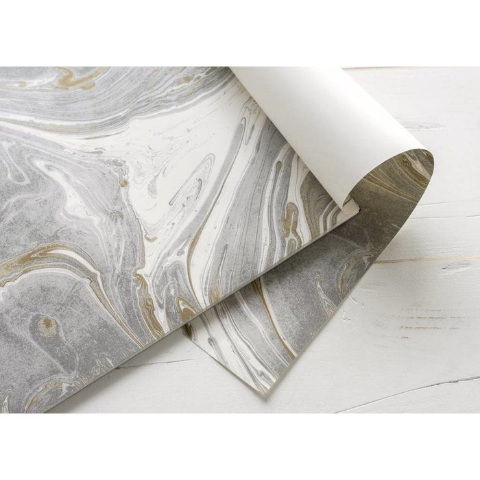 Gray & Gold Marbled Placemat- 30 sheets