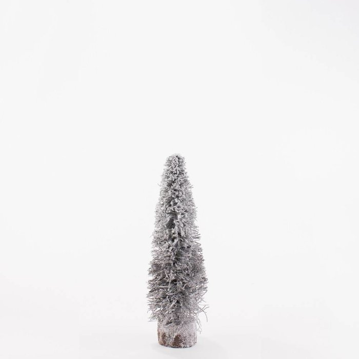 "Village Christmas Tree, Natural/White 16"""