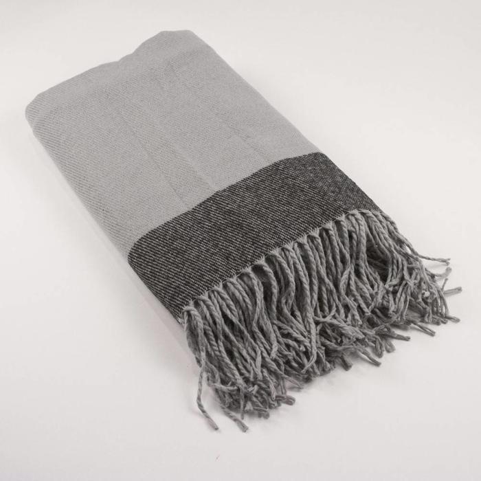 Milan Throw, Charcoal/Gray 51x55
