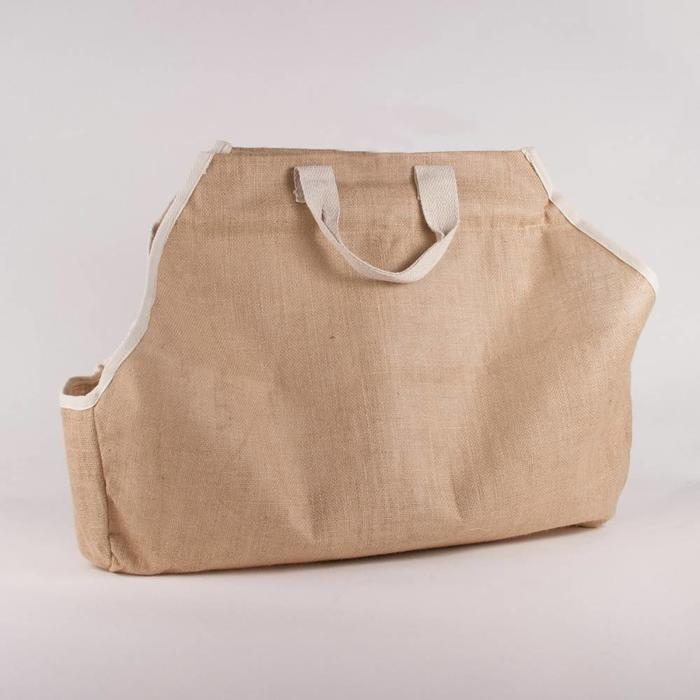 Classic Burlap Log Carrier (Natural)  25x20x7