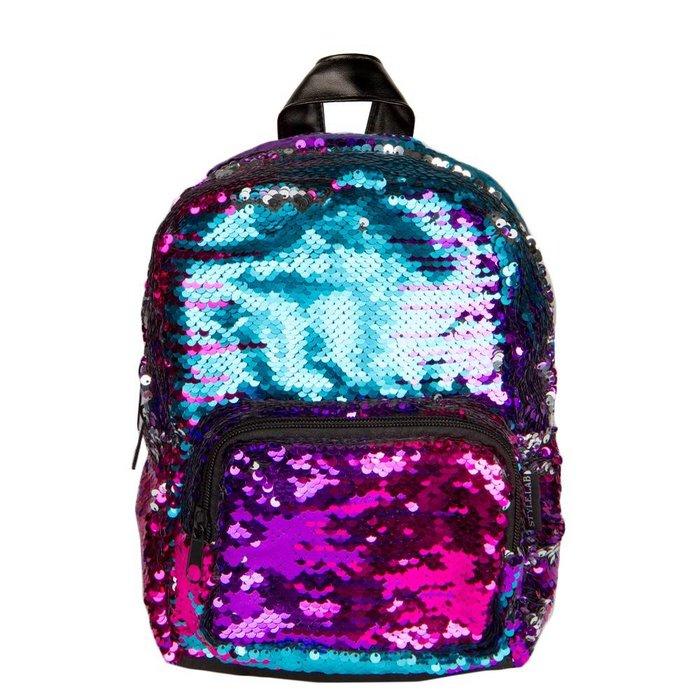 Mini Sequin Backpack  Multi/Silver