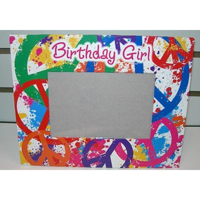 Birthday Girl Peace Autograph Frame