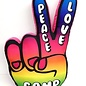 Peace Hand Autograph Pillow