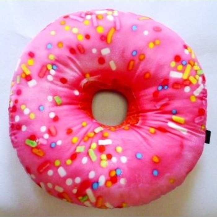 Pink Donut Autograph Pillow
