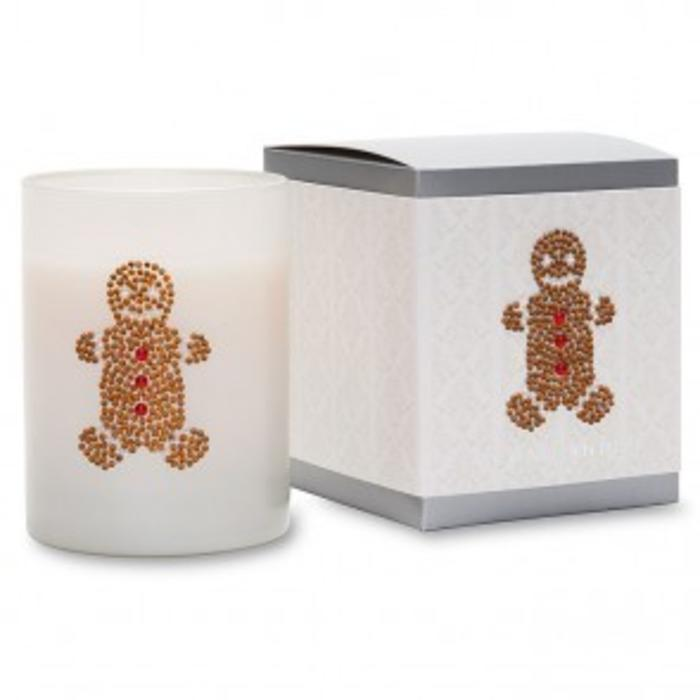Gingerbread Man Icon Candle