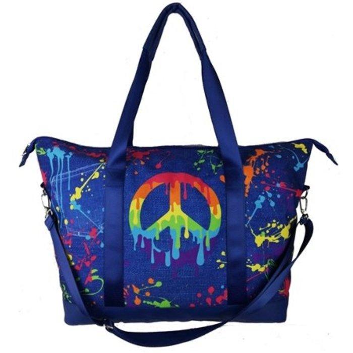 Peace Splatter Overnight Bag