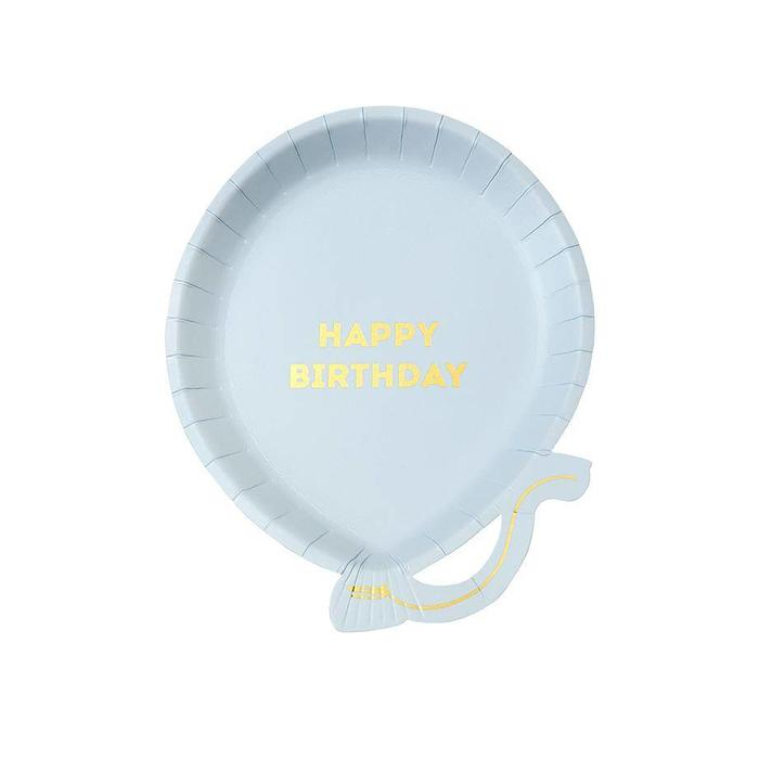 Happy Birthday Balloon Die Cut Plates