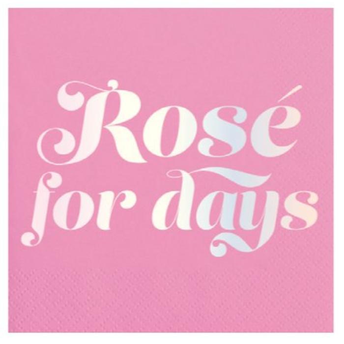 Rose for Days Cocktail Napkin