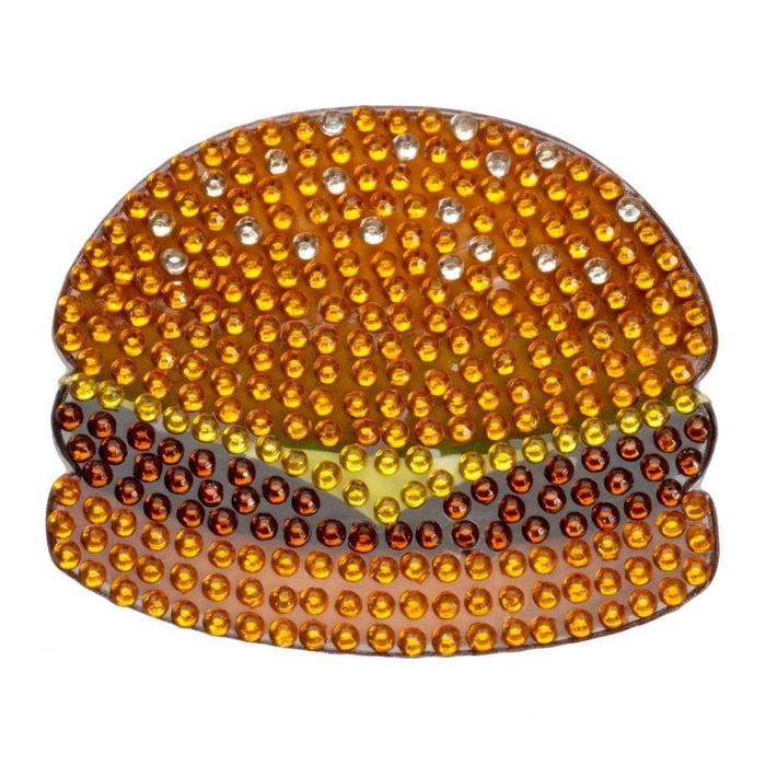 Stickerbeans 2 inch Rhinestone Hamburger