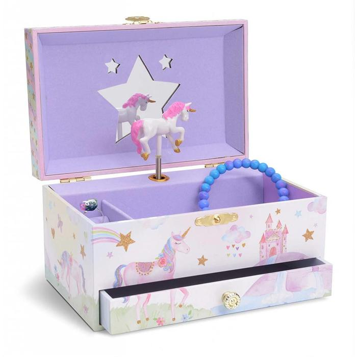 Unicorn Musical Jewlery Box-One Drawer