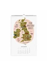"Rifle Paper Co. Calendrier 2018 ""Maps of the world"" par Rifle Paper Co."