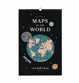 "Rifle Paper Co. Calendrier 2018 ""Maps of the world"" par Rifle Paper Co."