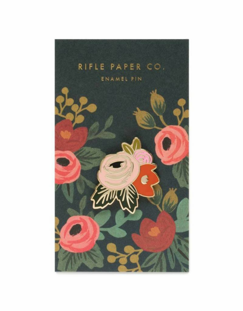 Rifle Paper Co. Rosa Enamel Pin by Rifle Paper Co.