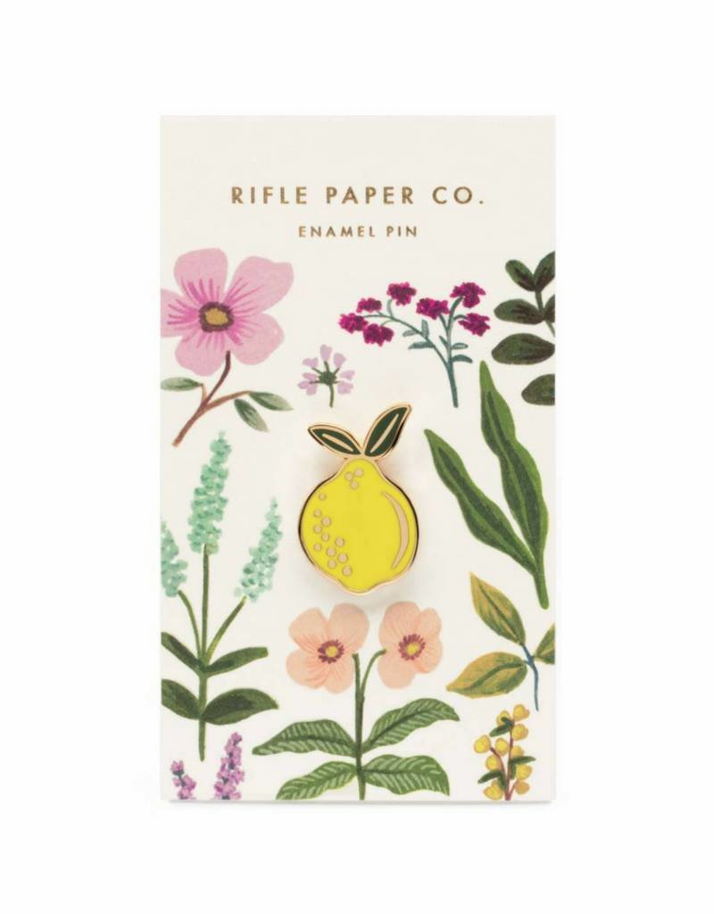 Rifle Paper Co. Lemon Enamel Pin by Rifle Paper Co.