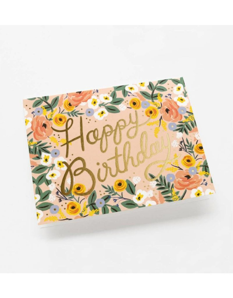 Rifle Paper Co. Rosé Birthday Card by Rifle Paper Co.