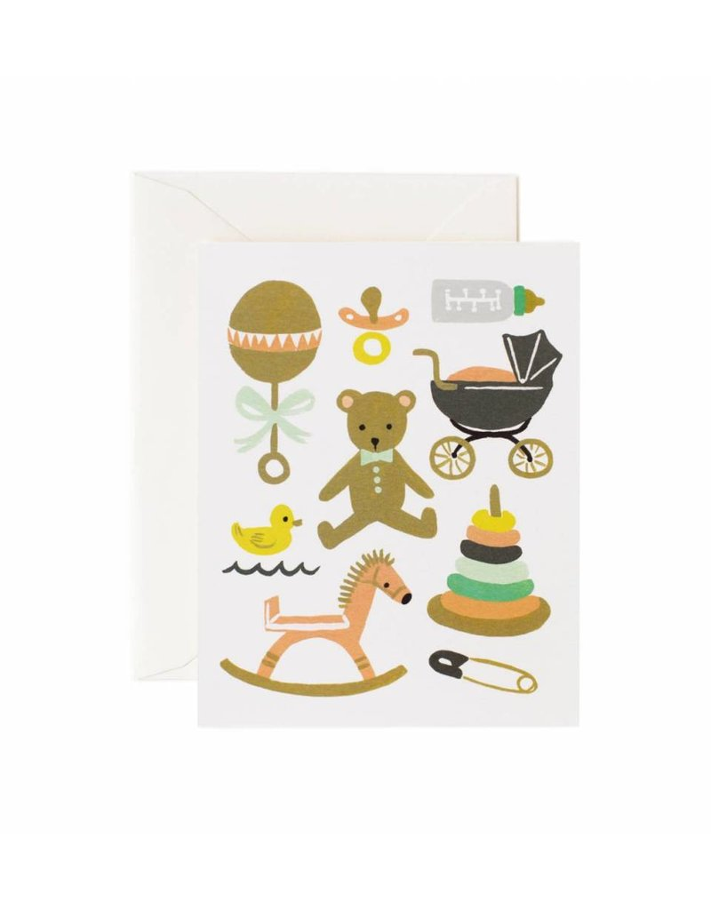 Rifle Paper Co.  Classic Baby Card by Rifle Paper Co.