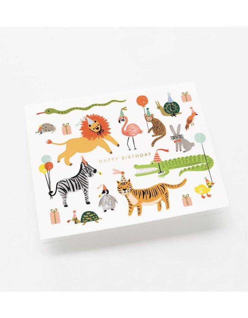 """Rifle Paper Co. Carte """"Party Animals"""" par Rifle Paper Co."""