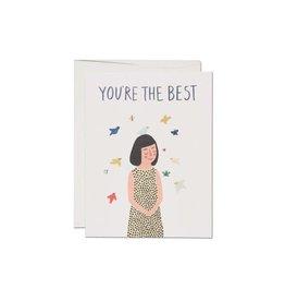 "Carte ""Bird On Your Head"" par Red Cap Cards"
