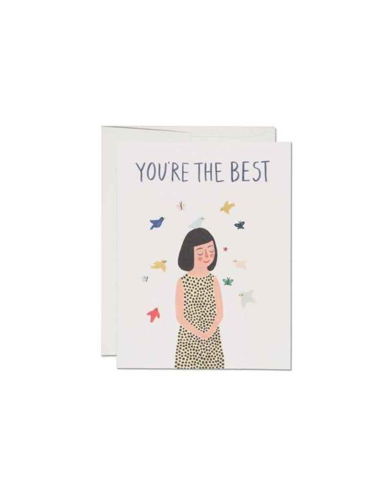 Bird On Your Head Card by Red Cap Cards