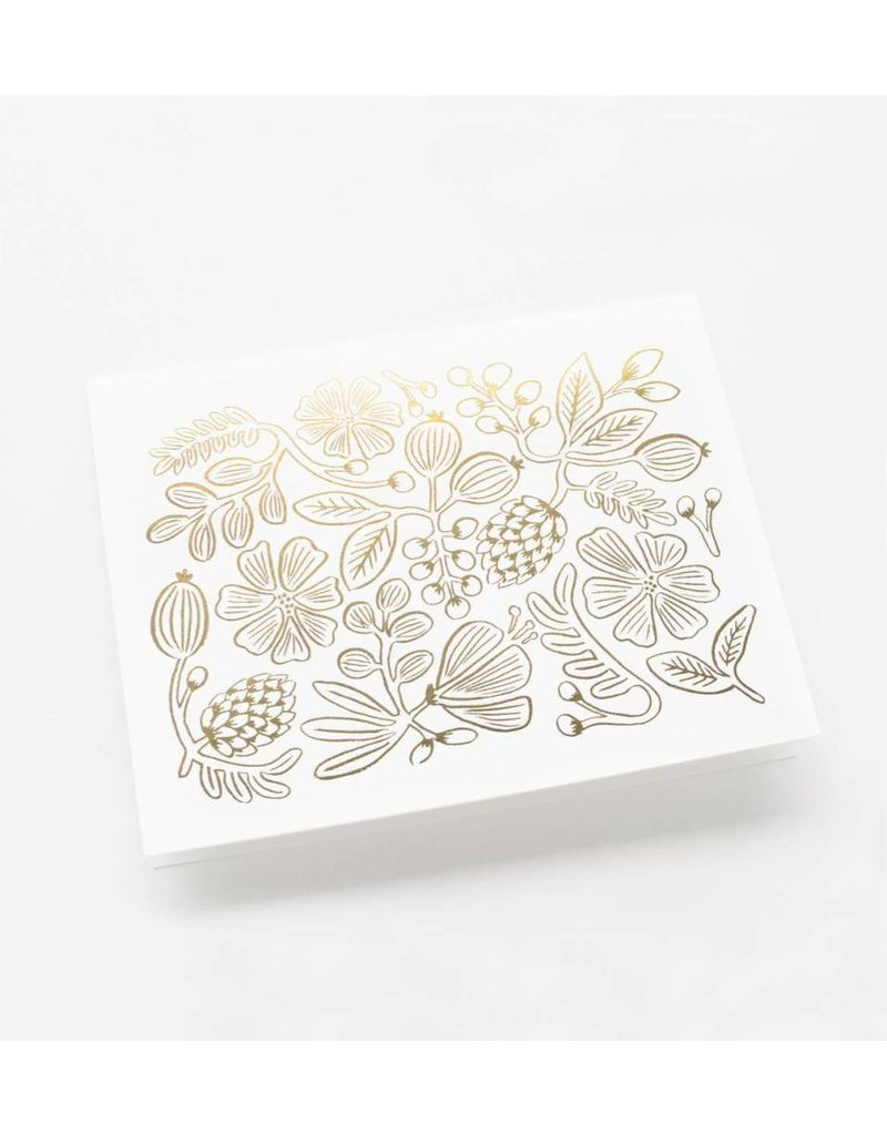 """Rifle Paper Co. Carte """"Gold Botanical"""" par Rifle Paper Co."""
