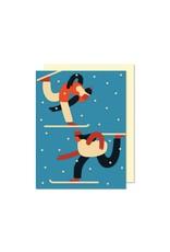 Carte Skieurs par Paperole