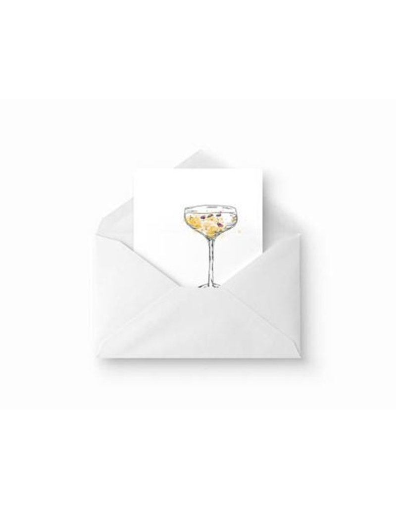 Carte Champagne par Evi Jane