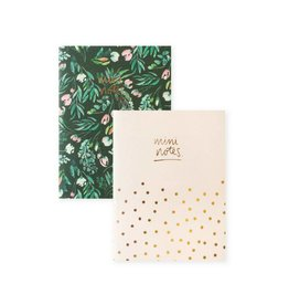 Mini Green Foral Polka Dot Notebook Set by Blushing Confetti