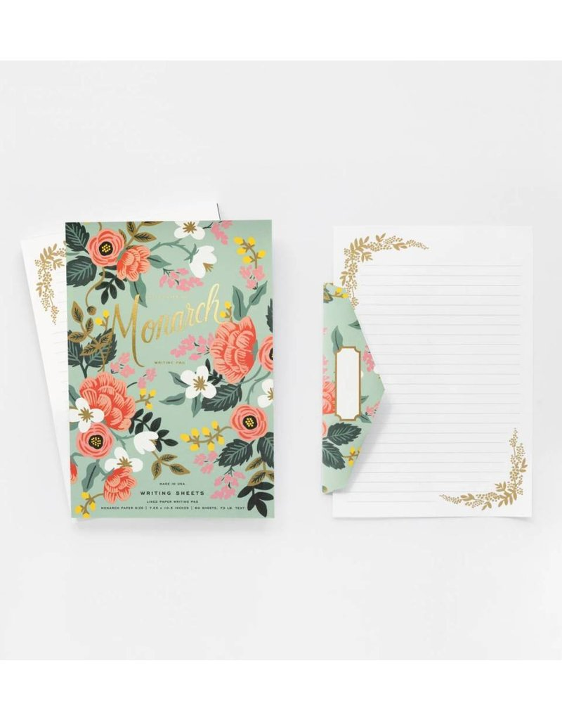 Rifle Paper Co. Mint Birch Monarch writing pad by Rifle Paper Co.