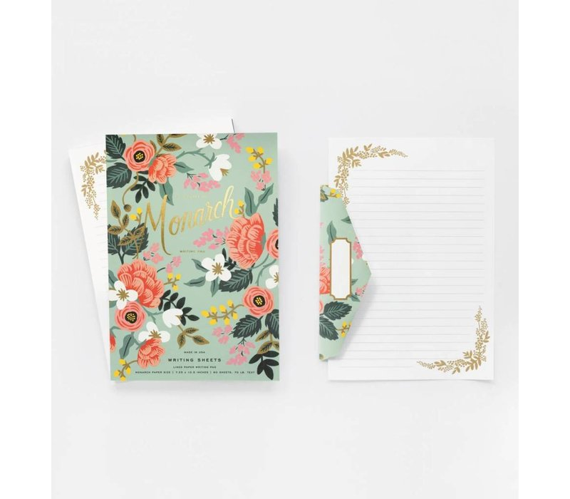 Mint Birch Monarch writing pad by Rifle Paper Co.