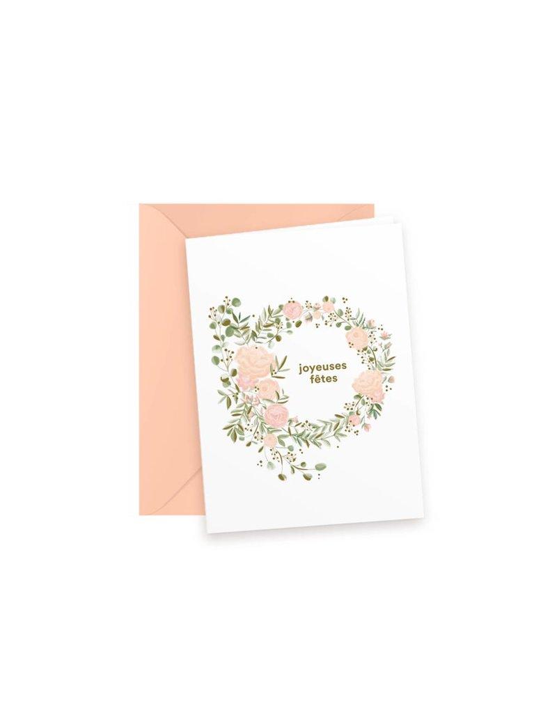 """""""Joyeuses fêtes"""" par Boucle & Papier et Papier Velours (Box of 8)"""