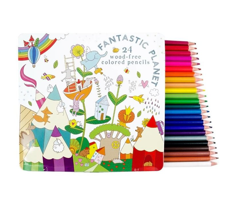 Fantastic Planet Colored pencils by OOLY