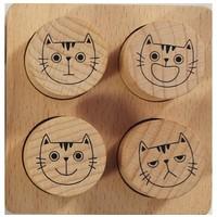 Teachers stamps cat faces by Avenue Mandarine