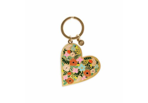 Rifle Paper Co. Floral Heart enamel Keychain by Rifle Paper Co.