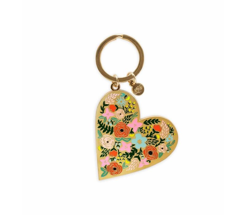 Floral Heart enamel Keychain by Rifle Paper Co.