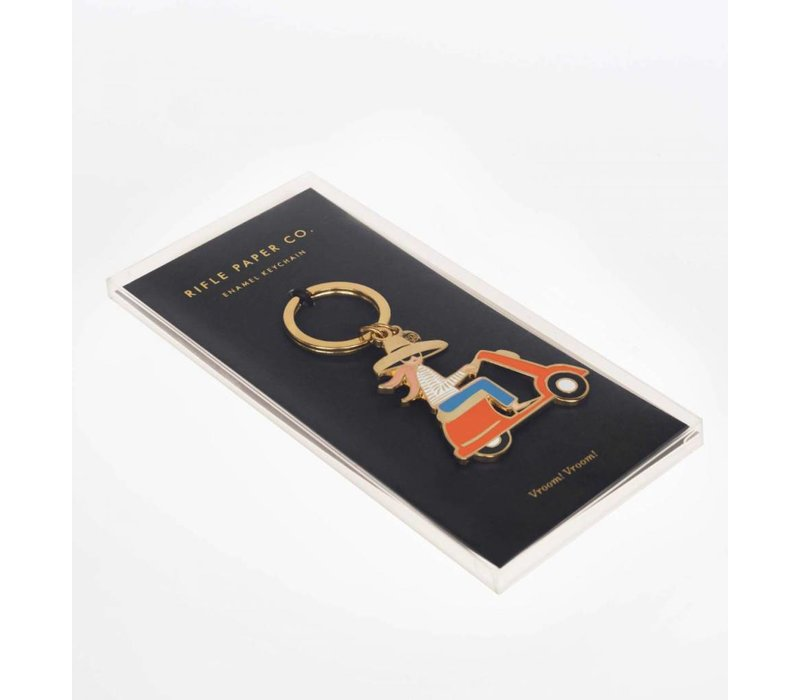 Scooter Enamel Keychain by Rifle Paper Co.
