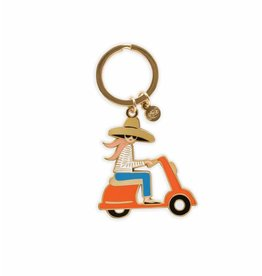 Rifle Paper Co. Scooter Enamel Keychain by Rifle Paper Co.