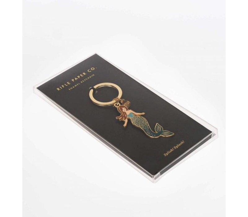 Mermaid Enamel Keychain by Rifle Paper Co.