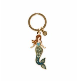 Rifle Paper Co. Mermaid Enamel Keychain by Rifle Paper Co.
