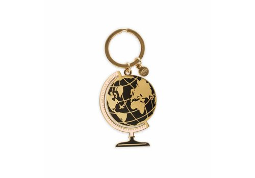 Rifle Paper Co. Globe Enamel Keychain by Rifle Paper Co.