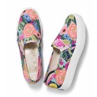 Keds X Rifle Paper Co. Triple Deck Juliet Floral Shoes in Navy