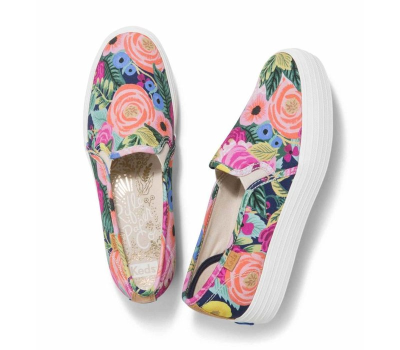 Souliers Keds X Rifle Paper Co. Triple Deck Juliet Floral Navy
