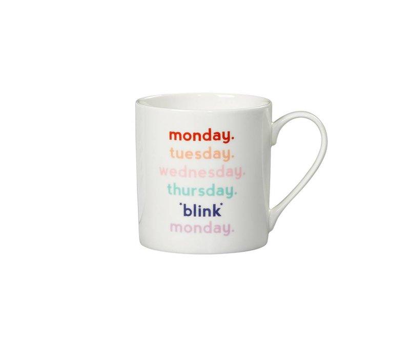 """Monday Blink"" Mug by Yes Studio"